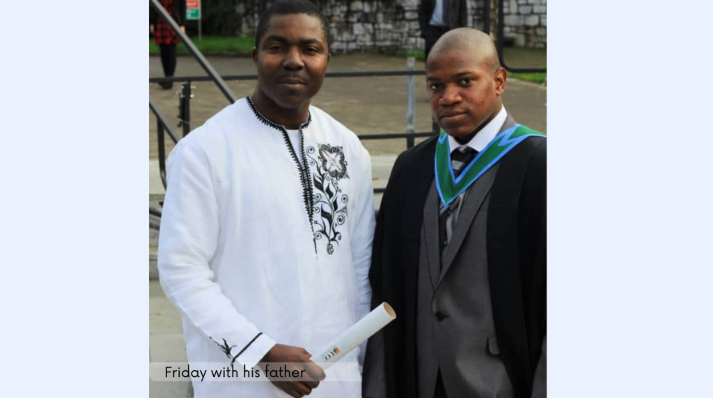 Friday Junior Osemwekhae Good Day Cork letter to father